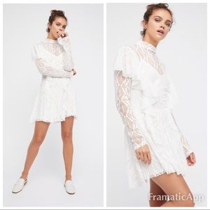 FREE PEOPLE Rock and Candy Lace Minidress..